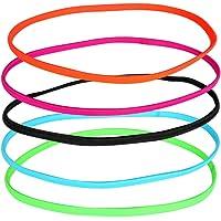 Lurrose 12 peças Mini faixa fina antiderrapante elástica para yoga, faixa de suor fino para mulheres esportes masculinos…