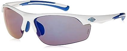 96e191ea6e Crossfire Safety Glasses AR3 Blue Mirror Lens White Ultralight Half Frame  16278