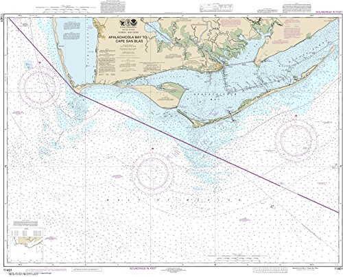 NOAA Chart 11401 Apalachicola Bay to Cape San Blas: 34.05'' X 42.03'' Paper Chart By MapHouse by MapHouse