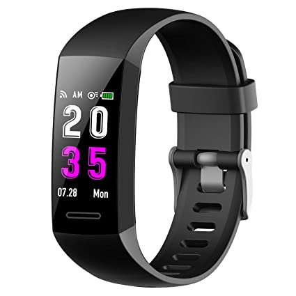 Pulsera Actividad Inteligente,Feob Reloj Inteligente Podómetro Hombre Mujer con Pulsómetro y Presión Arterial GPS