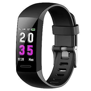 Feob Montre connectée Cardio Bracelet Connecté Femme Homme Sport Pédomètre Sommeil Smartwatch Tension Artériel Tracker D