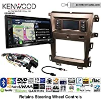 Volunteer Audio Kenwood Excelon DNX694S Double Din Radio Install Kit with GPS Navigation System Android Auto Apple CarPlay Fits 2011-2014 Edge (Bronze)