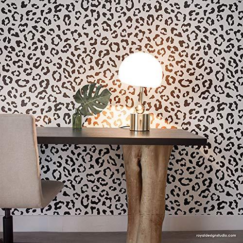 (Leopard Spots Wall Stencil - Animal Print Wallpaper - Tribal Wall Pattern Stencil - Cheetah Print Wall Design Stencils for Painting Walls)