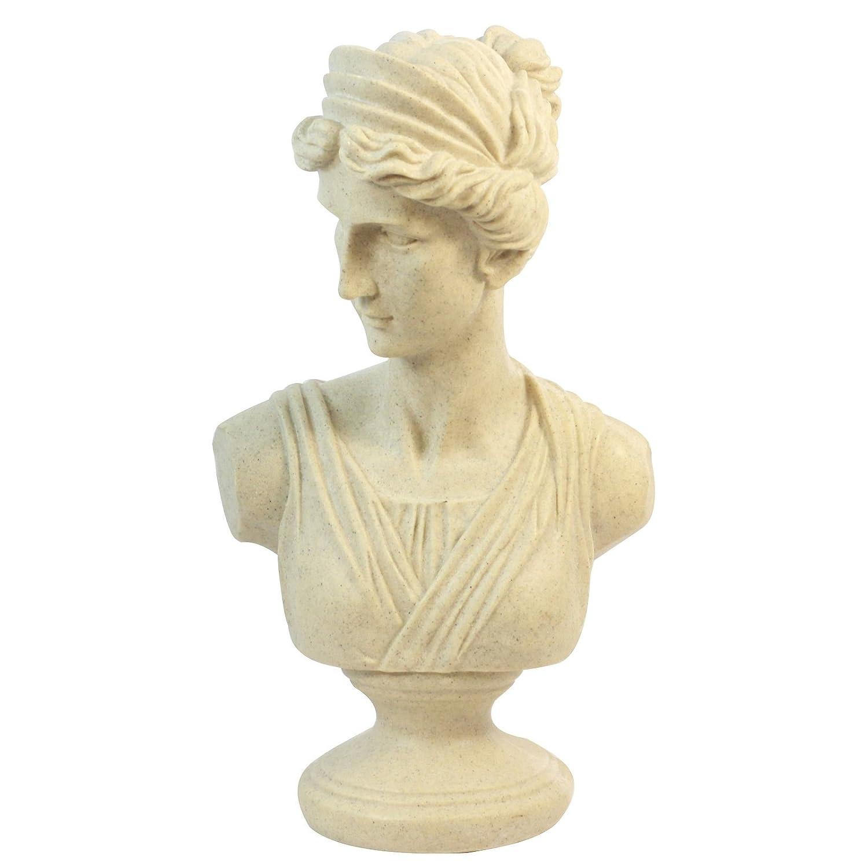 GoldBearUK Roman busto statua di alta qualità di grandi dimensioni 44cm Femal