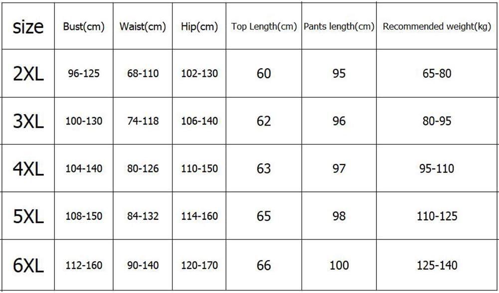 PAOFU-Damen Samt Elastisch Thermals Unterw/äscheset,Long Johns Tops und Hosen in /Übergr/ö/ße Winter Warm Skiunterw/äsche Set,Schwarz,5XL