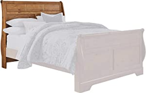 Ashley Furniture Signature Design - Bittersweet Sleigh Headboard - Queen Sized - Component Piece - Vintage Casual - Headboard Only - Light Brown