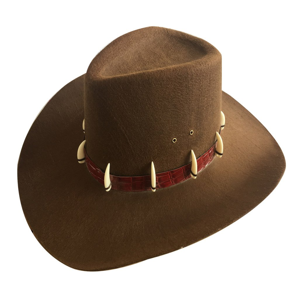 Men/Women's A Big Brown Cowboy Hat with A Fake Ivory.