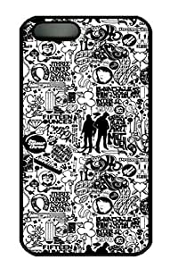 iPhone 4 4S Case, iCustomonline Comics Black And White Hard Protective Back Cover Case for iPhone 4 4S