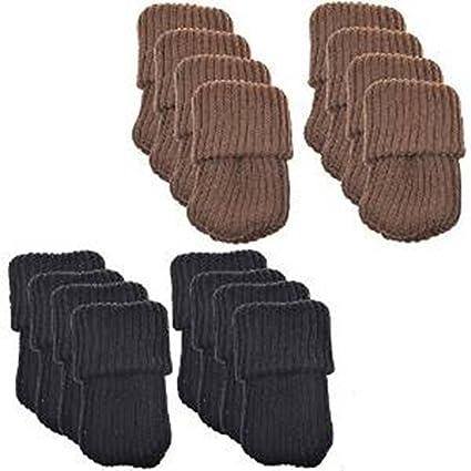 lenhar 8pcs Muebles de lana para tejer calcetines/pata de la silla piso Protector (
