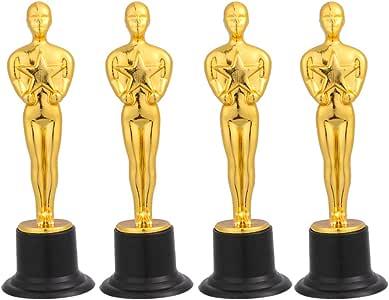 Amosfun trofeos de Oro Trofeo Oscar Trofeo Ganador del Premio trofeos de Copas para Ceremonia Regalo de Agradecimiento premios Deportivos Suministros para Fiestas Oscar 4 Piezas: Amazon.es: Juguetes y juegos