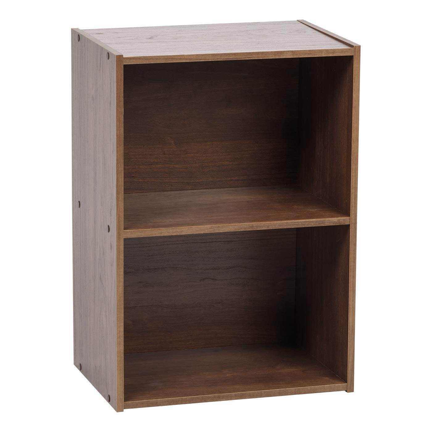 IRIS USA 2-Tier Wood Storage Shelf, Brown