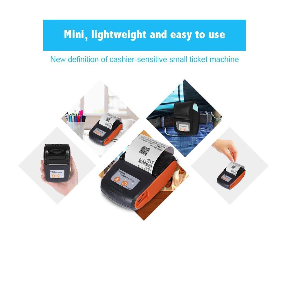 Amazon.com: Mini Wireless Thermal Printer, EARME 58mm ...