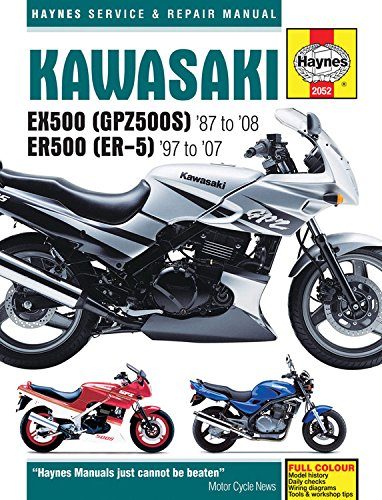 Kawasaki EX500 (GPZ500S) '87 to '08 ER500 (ER-5) '97 to '07 (Haynes Service & Repair Manual)