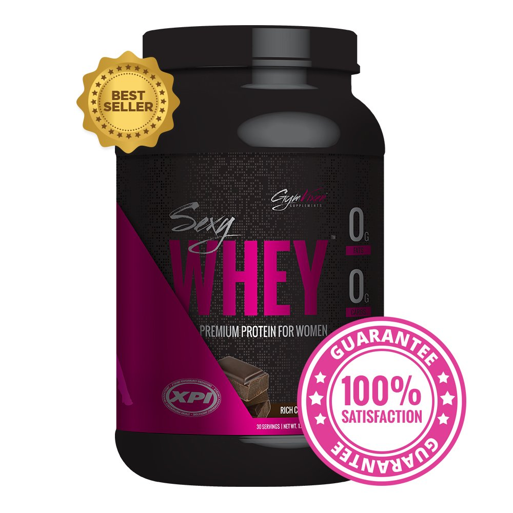 Gym Vixen Whey Protein Isolate (Rich Chocolate) 30 Serv - Best Protein Powder for Women - Great Tasting! Low Calorie, Fat Free, Zero Carb, High in Folic Acid, Vitamin D & Calcium by Gym Vixen
