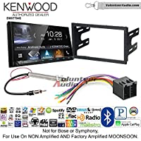 Volunteer Audio Kenwood DMX7704S Double Din Radio Install Kit with Apple CarPlay Android Auto Bluetooth Fits 1999-2001 Volkswagen Golf, 1999-2001 Jetta, 1998-2001 Passat