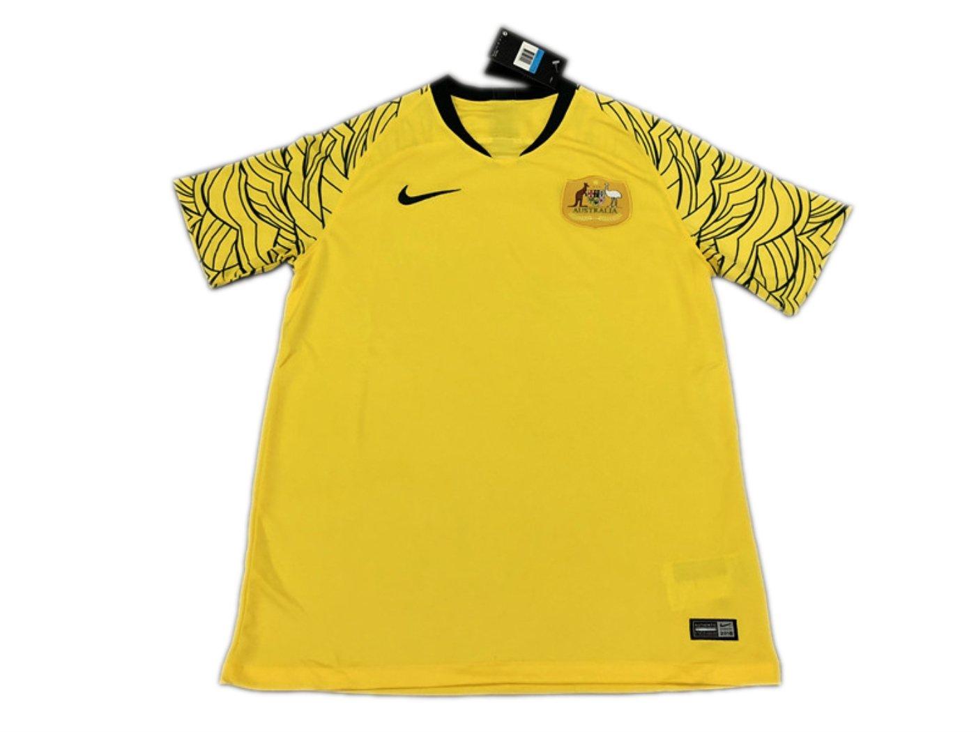 3a377e675 TI Soccer jersey Australia Home Yellow 2018 World Cup  Amazon.co.uk  Sports    Outdoors