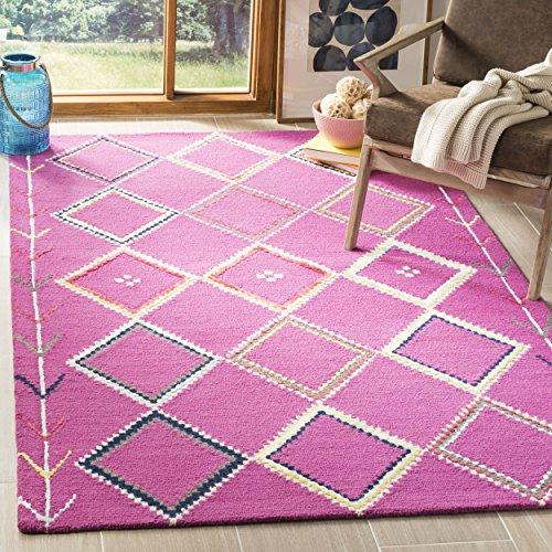 Safavieh Bellagio Collection BLG563R Fuchsia and Multi Premium Wool Area Rug (8