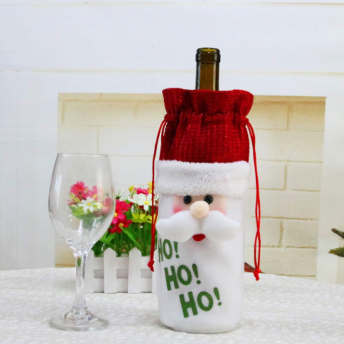 MODOAO Christmas Gift Bags Santa Sacks Drawstring Toys Holder Kids Candy Bags Portable Christmas Handbag Santa Sack Backpack for Party Favors 3 Pack,13x6.3