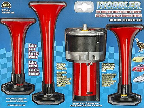 Wolo (410) Wobbler Wild Turkey Air Horn - 12 Volt, Two Tone