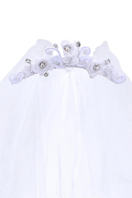 Kids Dream Precious First Communion Flower Girl Veil w/Elegant Tiaras and Crowns Veil015