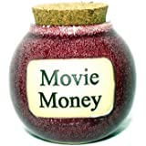 Movie Money Red Ceramic Stoneware Coin Savings Jar