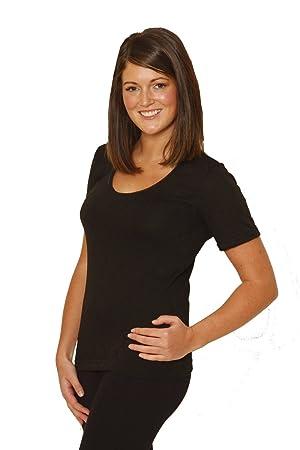 e1cdb7471fdd Octave® Ladies/Womens Thermal Underwear Short Sleeve T-Shirt/Vest/Top