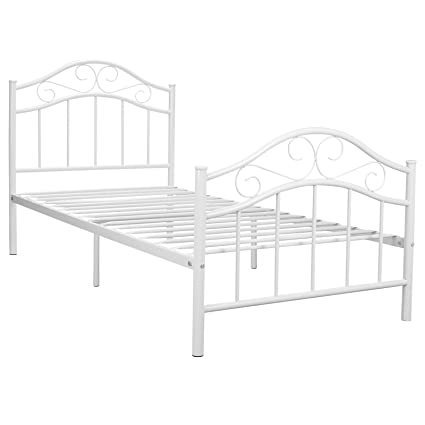 Amazon.com: Kingpex Metal Bed Frame Twin Size/Metal Platform with ...