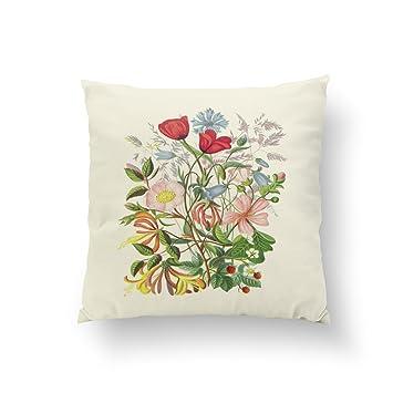 Amazon.com: orlando-xv flores rojas en café claro funda de ...