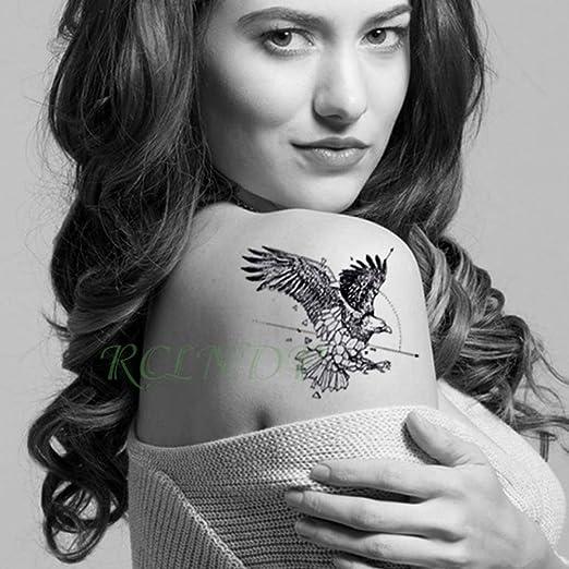 6 Piezas Impermeable Tatuaje Pegatina Animal Lobo león águila ...