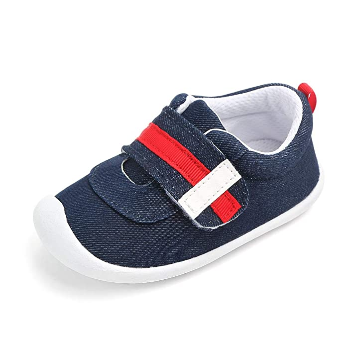 Kuner Baby Boys and Girls Cotton Rubber Sloe Outdoor Sneaker First Walkers Shoes