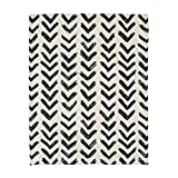 KARUILU home Quick Fix Washable Roman Window Shades Flat Fold, Black and White Pattern (27W x 63H, Inkflow)