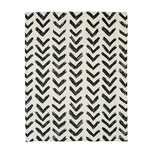 KARUILU home Quick Fix Washable Roman Window Shades Flat Fold, Black and White Pattern (Custom, Inkflow)