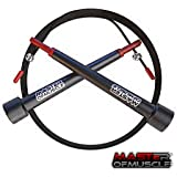 Speed Jump Rope - Best Jump Rope for Crossfit Workouts Double Unders Exercise and Fitness Boxing Lean Muscle Weight Loss - Perfect for Home Gym Sports and Outdoors Training - Fully Adjustable - 9ft Long - Suitable for Adults Women Men Girls and Guys - Free Workout with Every Purchase - Protect Your Investment with Our 100% Money Back Lifetime Guarantee