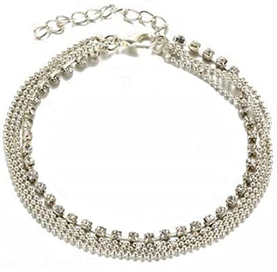 Blanc Plaqué Or Strass Cristal Amour Coeurs Blanc Topaz Bracelet