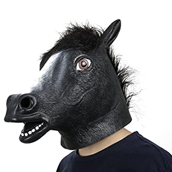 XIAO MO GU Máscara de la Cabeza de Animal Caballo, Máscara del Látex de la