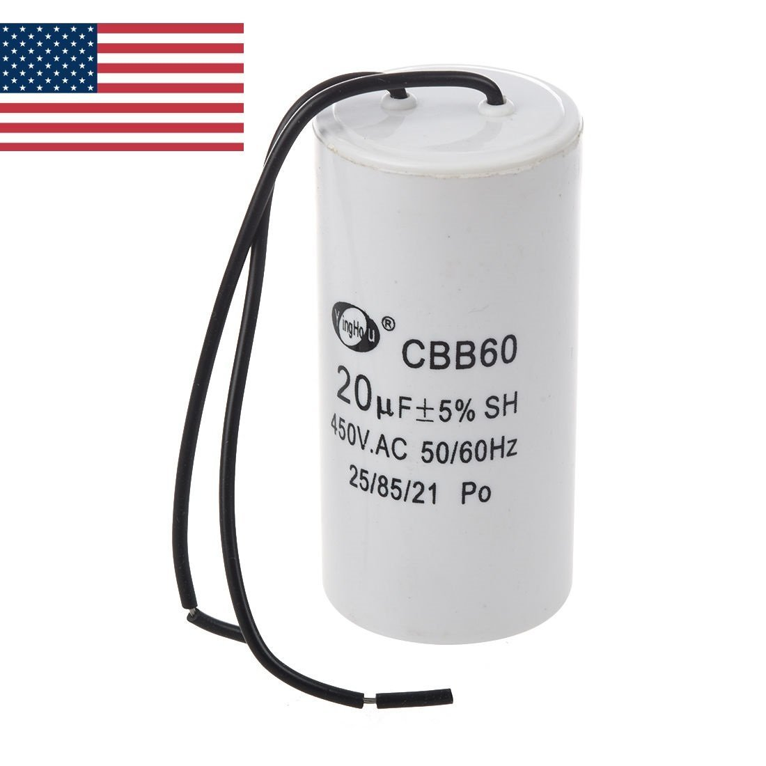 Ugtell Motor Capacitor Cbb60 capacitance 60Uf 450Vac frequency 50//60Hz white capacitor 60Uf