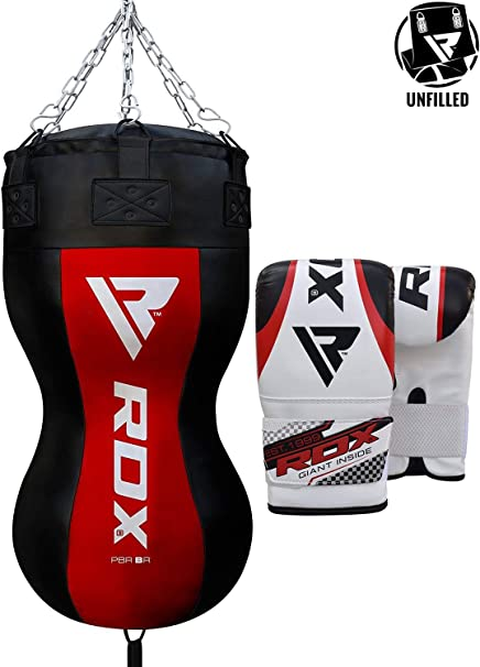 RDX MMA Wrecking Ball Uppercut Punch Bag Boxing Filled Heavy Kickboxing Grappling Muay Thai Sparring Training Gloves Hanging Chain