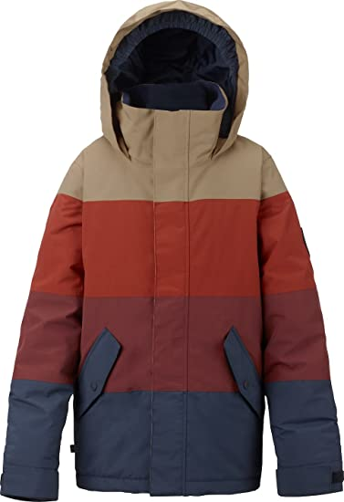d246a335a614 Burton Boys Symbol Jacket, Mood Indigo/Fired Brick/Bitter, Small