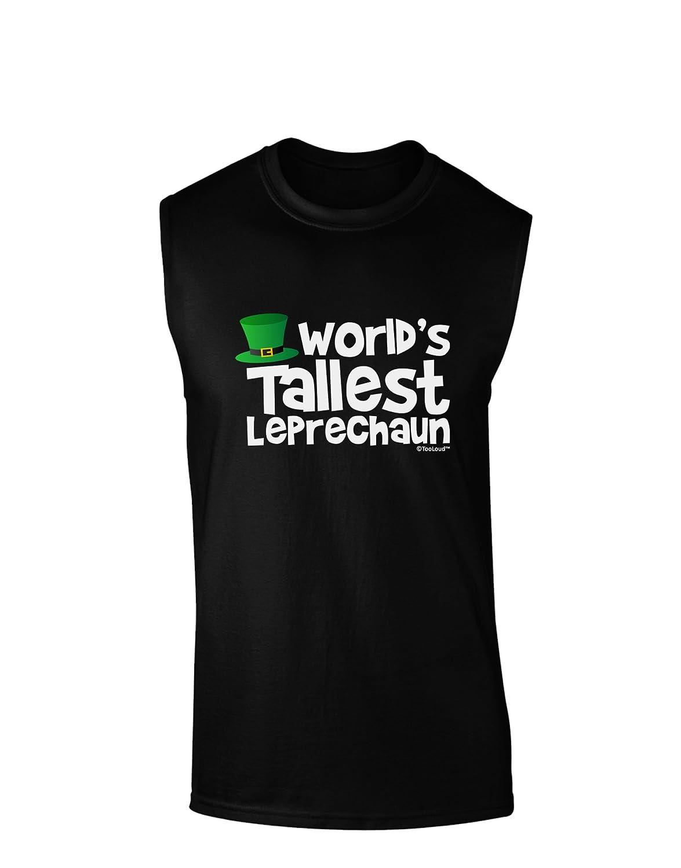 TooLoud Worlds Tallest Leprechaun Dark Muscle Shirt