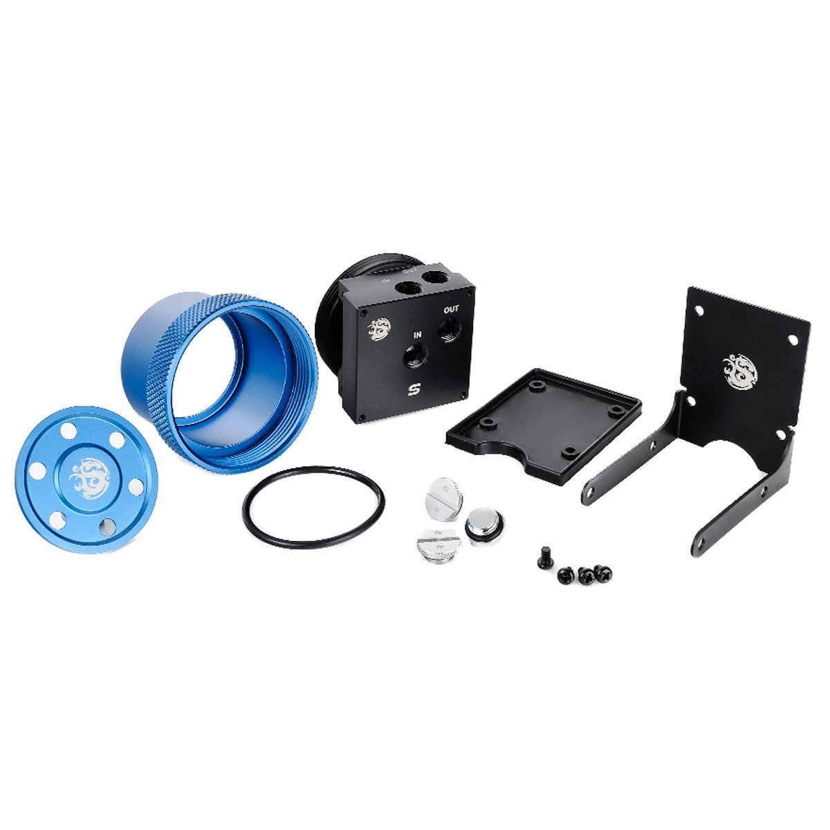 Bits Power D5 MOD Package (Clear Acrylic top + MOD kit V2 red) V2 Blue (BP-D5TMPSV2-BKBL)