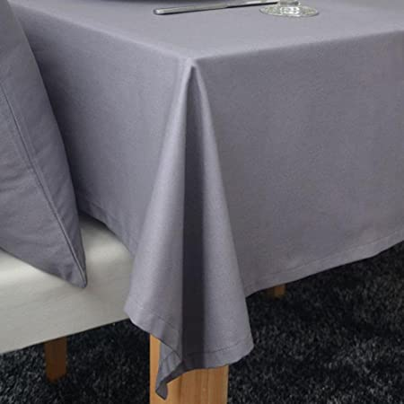 JIAAE Europeo clásico mantel gris de algodón elegantes manteles ...