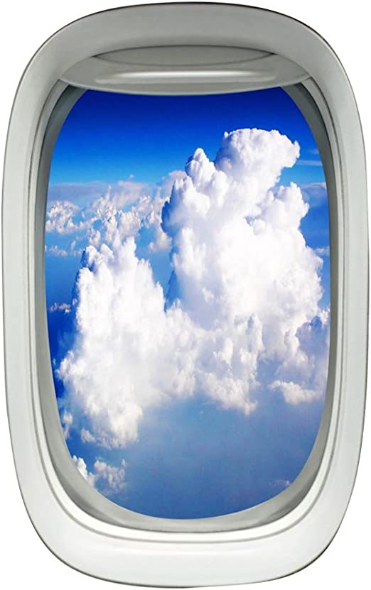 Amazon Com Airplane Window View Decal Wall Art Peel And Stick
