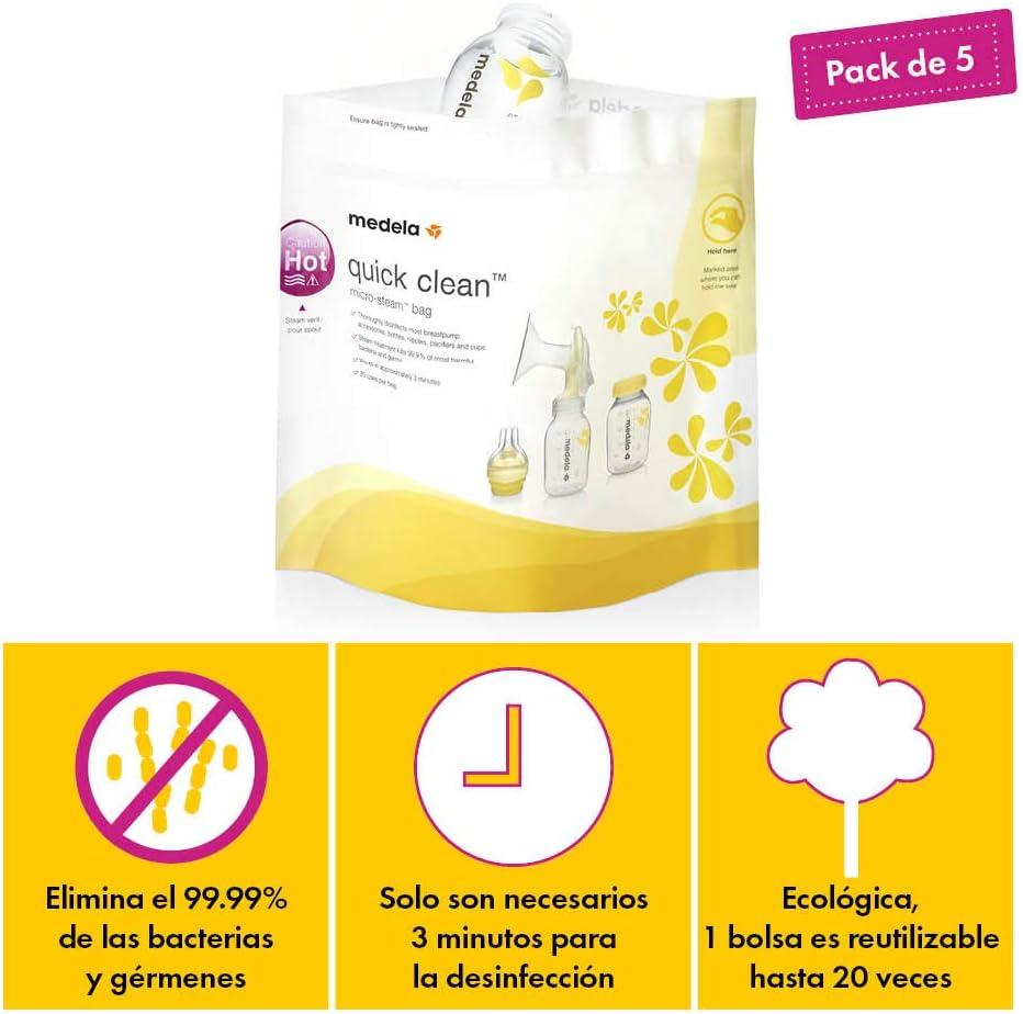 Bolsas de esterilización reutilizables Quick Clean, Medela: Amazon ...