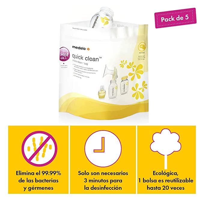 Amazon.com: Medela Quick Clean Micro-Steam Bolsas de ...