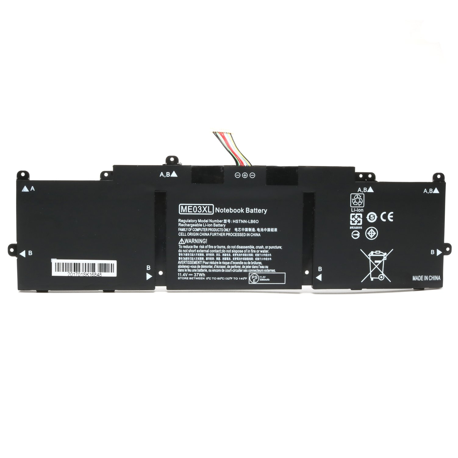 Reparo 11.4V 37WH ME03XL New Replacement Laptop Battery for HP Stream 11 13-C010NR Notebook 787521-005 787089-541 HSTNN-UB6M