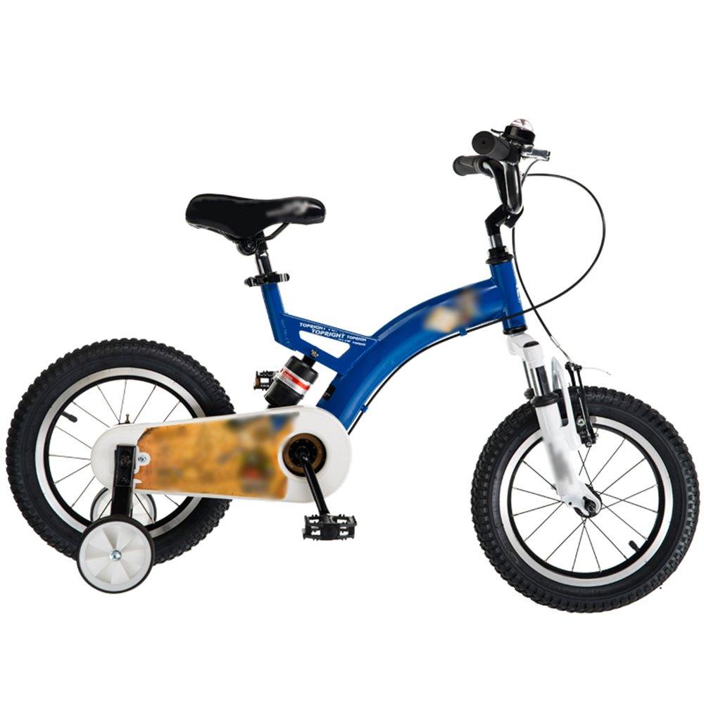 HAIZHEN マウンテンバイク 子供用自転車12インチ14インチ16インチ18インチレッドブルーイエローハンドルバーシートの高さ調節可能安全で信頼性の高い 新生児 B07C6WVN57 16 inch|青 青 16 inch