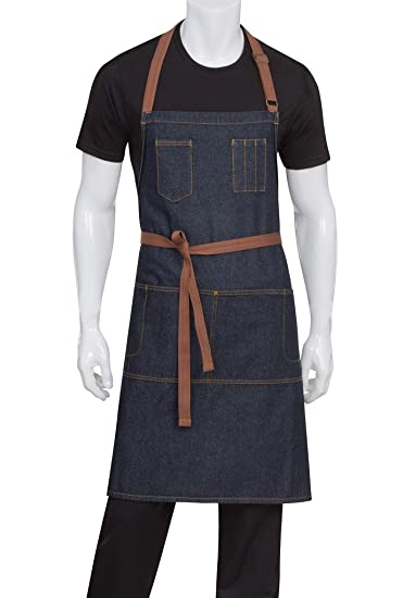10 Things to Do with Vintage Aprons Chef Works Memphis Bib Apron (AB035) $26.81 AT vintagedancer.com
