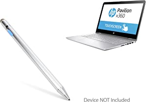 "HP Pavilion x360 Convertible 2-in-1 (14"") Stylus Pen, BoxWave [AccuPoint Active Stylus] Electronic Stylus with Ultra Fine Tip for HP Pavilion x360 Convertible 2-in-1 (14"") - Metallic Silver"
