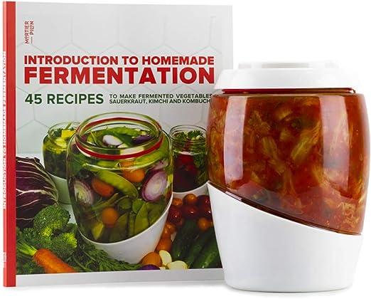 Mortier Pilon - Vaso de fermentación de vidrio de 2 litros + libro ...