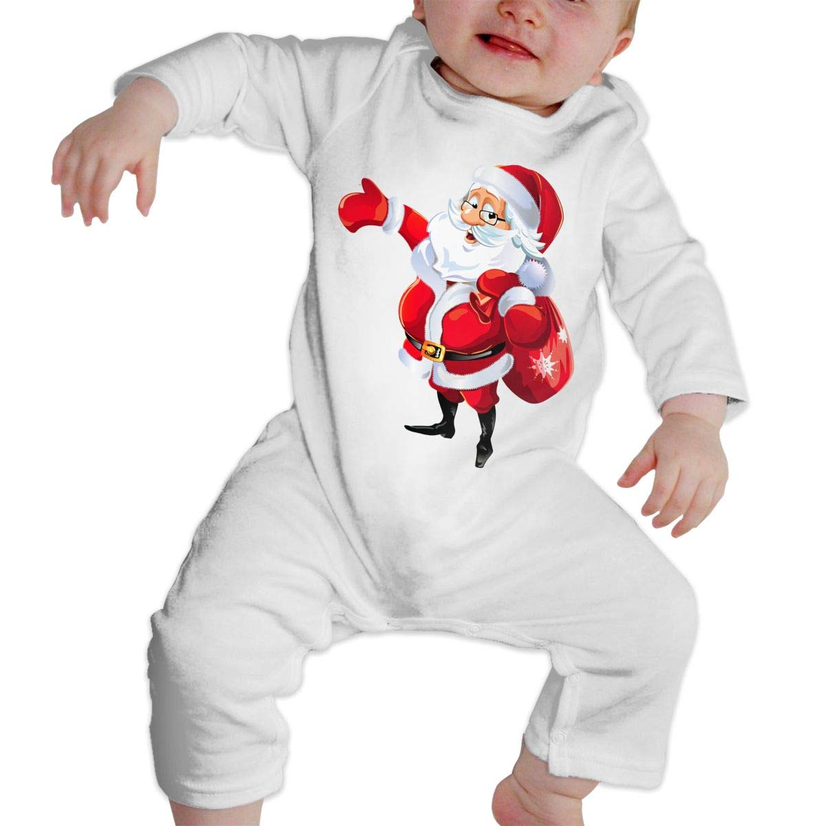 KAYERDELLE Santa Claus Christmas Long Sleeve Unisex Baby Bodysuits for 6-24 Months Boys /& Girls